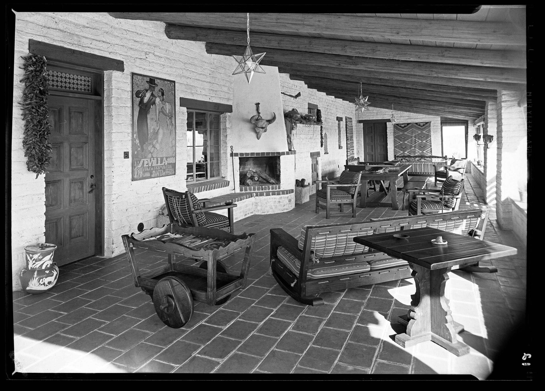 Verandah of author Walt Coburrn's house in Tucson, Arizona